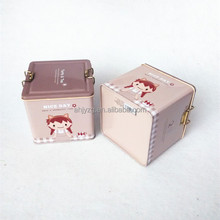 lovely square metal food container with lock