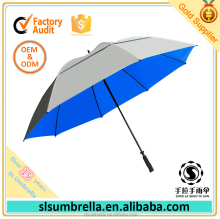 UV Protection Double Layer Wind Resistant Vented Canopy Golf Umbrella