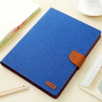 Shockproof protective tablet cover for ipad stand mini 4, canvas leather PU +tpu Case Wallet Card case for ipad pro 9.7 cover