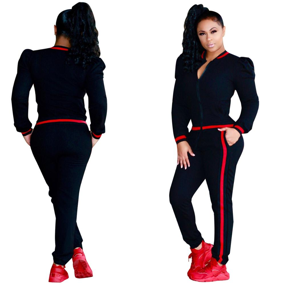 Two piece set women clothing sweatshirt with pants wholesale sweat suits