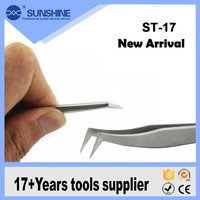 New arrival ST-17 high class eyelash extension tweezers for sale