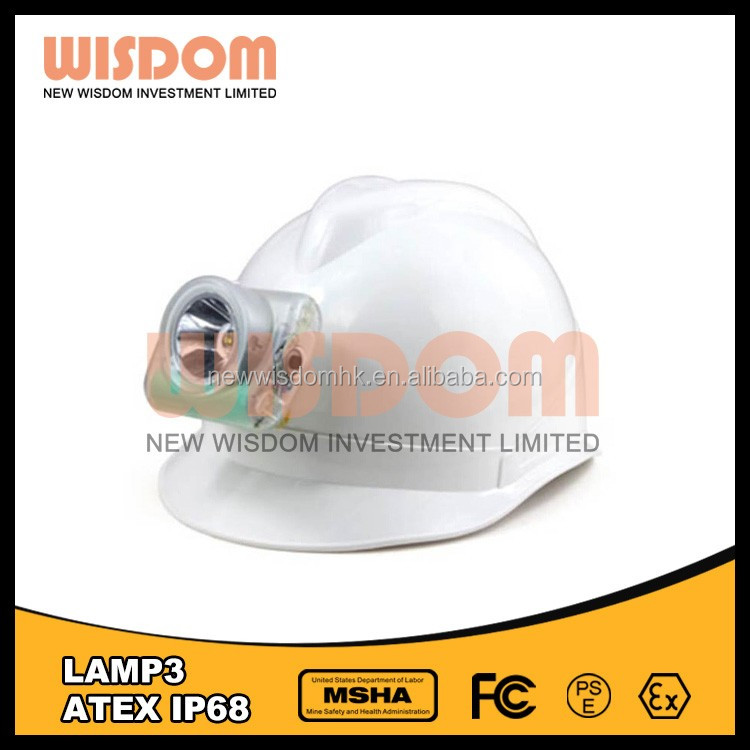WISDOM LAMP 3 LED Projector Cordless Cap Lamp/LED Mining Light/Mining Hard Hat Lamp With MSHA,ATEX,CE,IP68