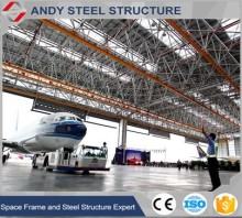 Steel roof construction structures arch airplane hangar warehouse