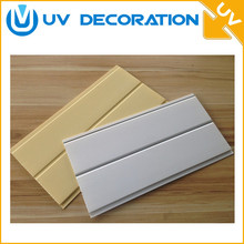 plastic building materials wooden mdf grooved panels wpc ceiling indoor and outdoor pvc panels for furniture