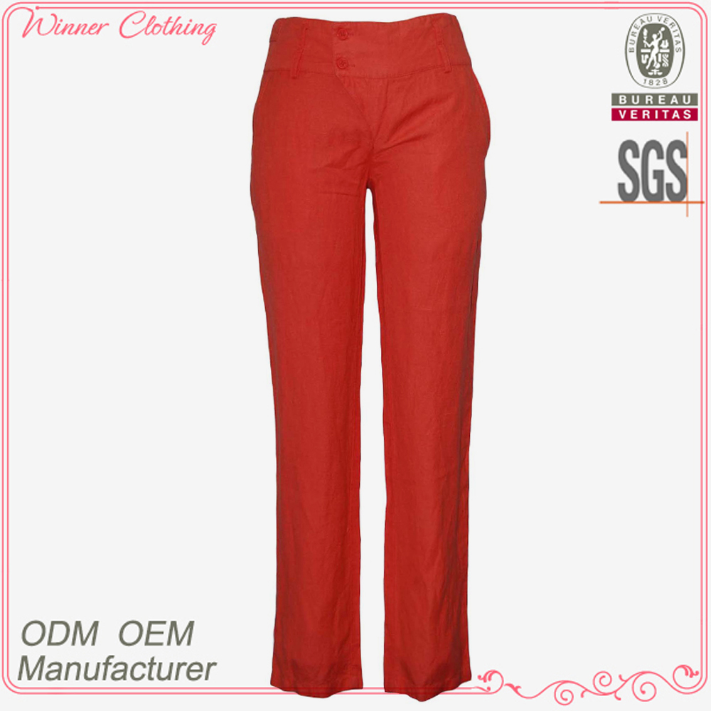high quality new design hot selling elegant long shirts trousers for women