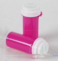 Plastic reversible hold tab down turn thumb tab vials thumb click vial
