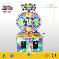 2014 coin operated gambling machine Lucky Turning kids Lottery Vending Machine with CE