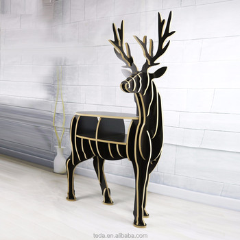 China manufacturer Wooden Animal deer Shaped decoration For Christmas Decor