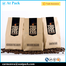 High quality heat seal aluminum foil kraft paper bag for coffee