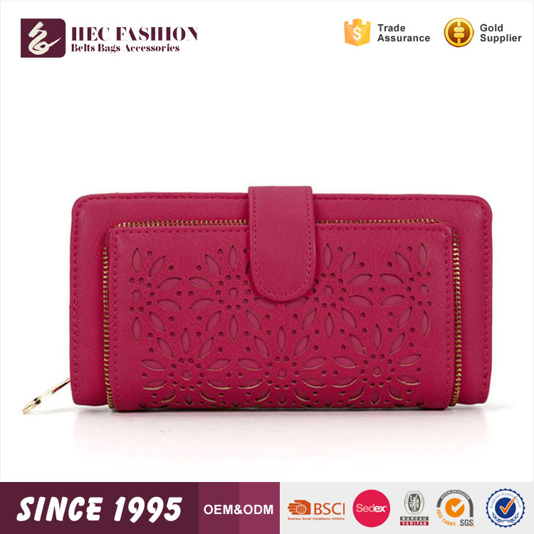 HEC Grace Hollow Designer PVC Material Wallet Money Bags Wholesale Price