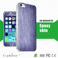 funky 3m adhesive gel resin skin sticker for mobile phone purple