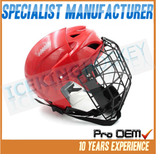 Fashion red color senior pro hockey helmet with dust mask/Safety Helmet