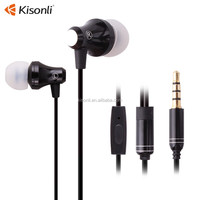 High quality beat stereo airline earphones with mic for cell phone