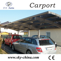 Polycarbonate and aluminum carport 3 wheel motor tricycle
