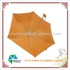 "19"" orange fabric 3 fold aluminum cute umbrella"