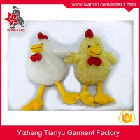 Wholesale stuffed yellow plush walking bird plush cock plush chicken toys