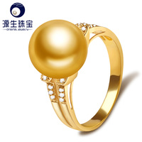 fashion 18k gold ring engagement pearl rings for women