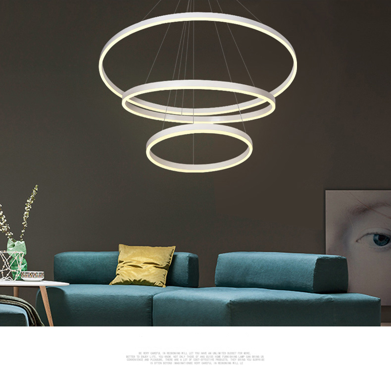 2018 hotel lobby luxury large <strong>modern</strong> circular acrylic halo ceiling led chandelier and pendent lights