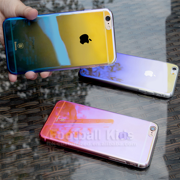2017 Luxury Plating Mirror Case for IPhone 7 4.7 inch Fashion Hybrid Hard PC Colorful Cover for iPhone