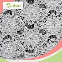White Cord Lace Fabric 5 Yard, White Lace Fabric For Clothing, Cheap Lace Fabric In Rolls