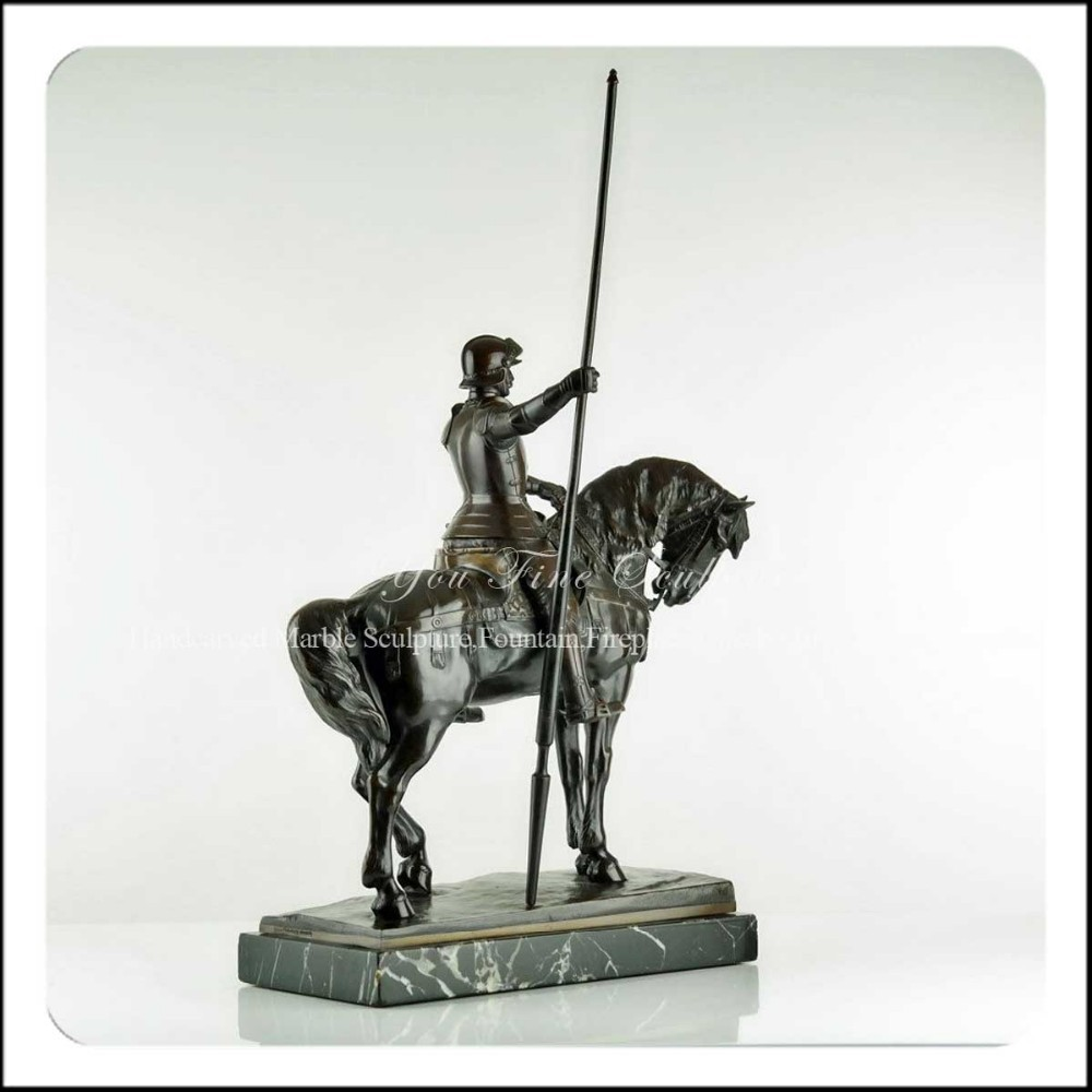 exquisite deutsch 1900er jahren gie en bronze ritter statue auf pferd skulptur volkst mliche. Black Bedroom Furniture Sets. Home Design Ideas