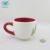 Promotional custom logo wholesale christmas special hand painted ceramic coffee cup