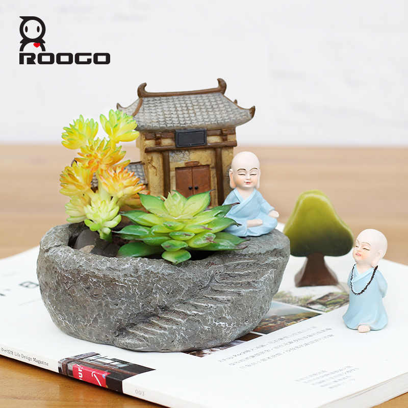 roogo 2017 new design arts and crafts gardening pots