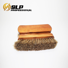 Wooden handle bristle hair high quality shoe brush
