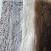 High quality plain dyed soft fake wholesale faux fur fabric
