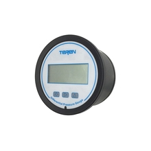Small Wise Digital Low Air Differential Pressure Gauge With Alarm, LCD And Keys, Power Type, Multiple Units, Wall Mount