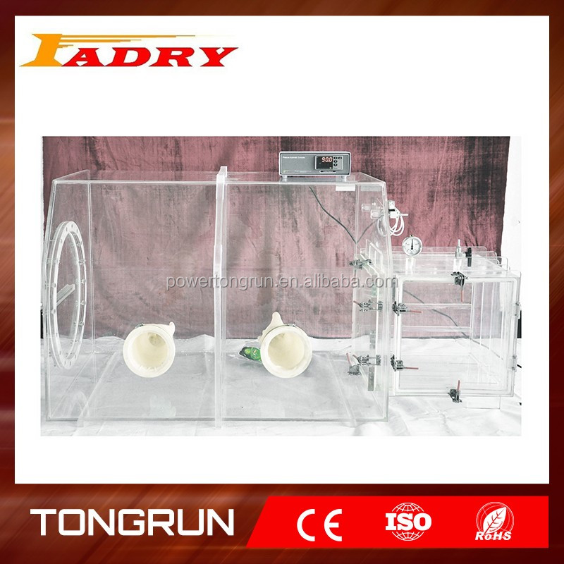 Transparent Acrylic Glove Box / Plexiglass Glove Box for Lab Clevenger Apparatus and Lab Supplies
