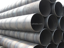 highly quality Spiral Wound Steel Pipes Black Steel large diameter spiral steel pipe on sale