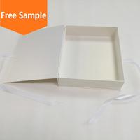 OEM manufacturer custom white paper satin lined gift box