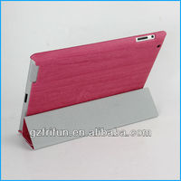 Purple wood lacquer hot selling smart leather case for ipad
