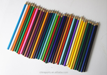 36 colored lead HB durable wooden pencils with coloful box
