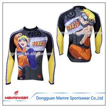Outdoor breathable cycling jersey,colorful perfect design long cycling shirt,sublimation custom bicycle wear
