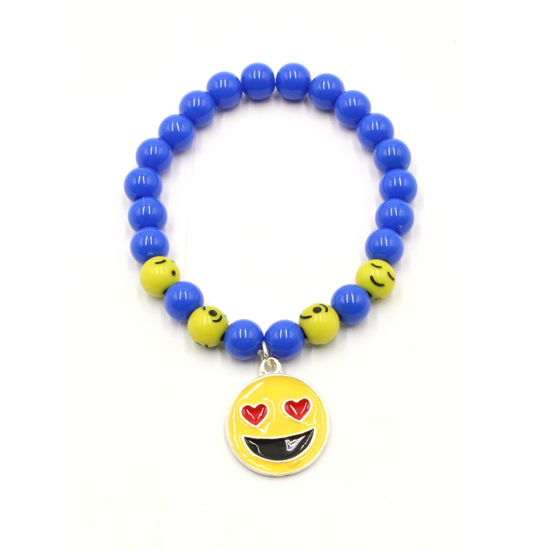 Fashion Cute Emoji Beaded Promotional Bracelet