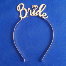 Bride To Be Hen Night Party Metal Wedding Tiara With Diamond