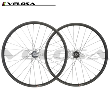 Toray T700 Carbon Fiber MTB 29er 25mm heigth 35mm wide disc braking wheel moutain bike AM wheels clincher beadless wheel