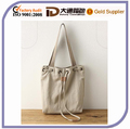 Natural Cotton Linen Tote Bag for Lady