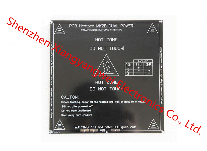 Black Color New 3D Printer PCB Heatbed MK2B Heated Bed Hot Plate For Prusa&Mendel MK2A for 3D Printer parts