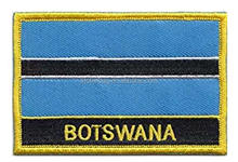 different kind of polyester Botswana national country flag