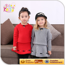 Girl clothing wholesale name brand children winter frock model baby dress cutting