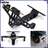 BJ-LPL-039 Custom Universal Mount Sport Bike Aluminum Adjustable Motorcycle License Plate Holder Bracket
