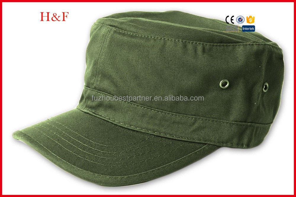 Fashion custom men military hat in army color
