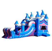 Blue Dreamland Premium Circus inflatable moonwalk/ inflatable bouncy slide combo for sale