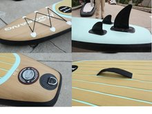 SUP Printed Bamboo Inflatable Stand Up Paddle Board Double Layer Inflatable SUP