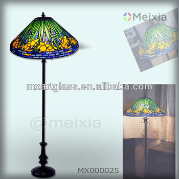 MX000025 china wholesale tiffany style stained glass floor lamp for home decoration item