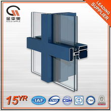 Building Exterior Insulated Profile Aluminium Glass Curtain Wall