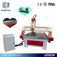 Top quality rotary axis/water tank/cnc router machine price